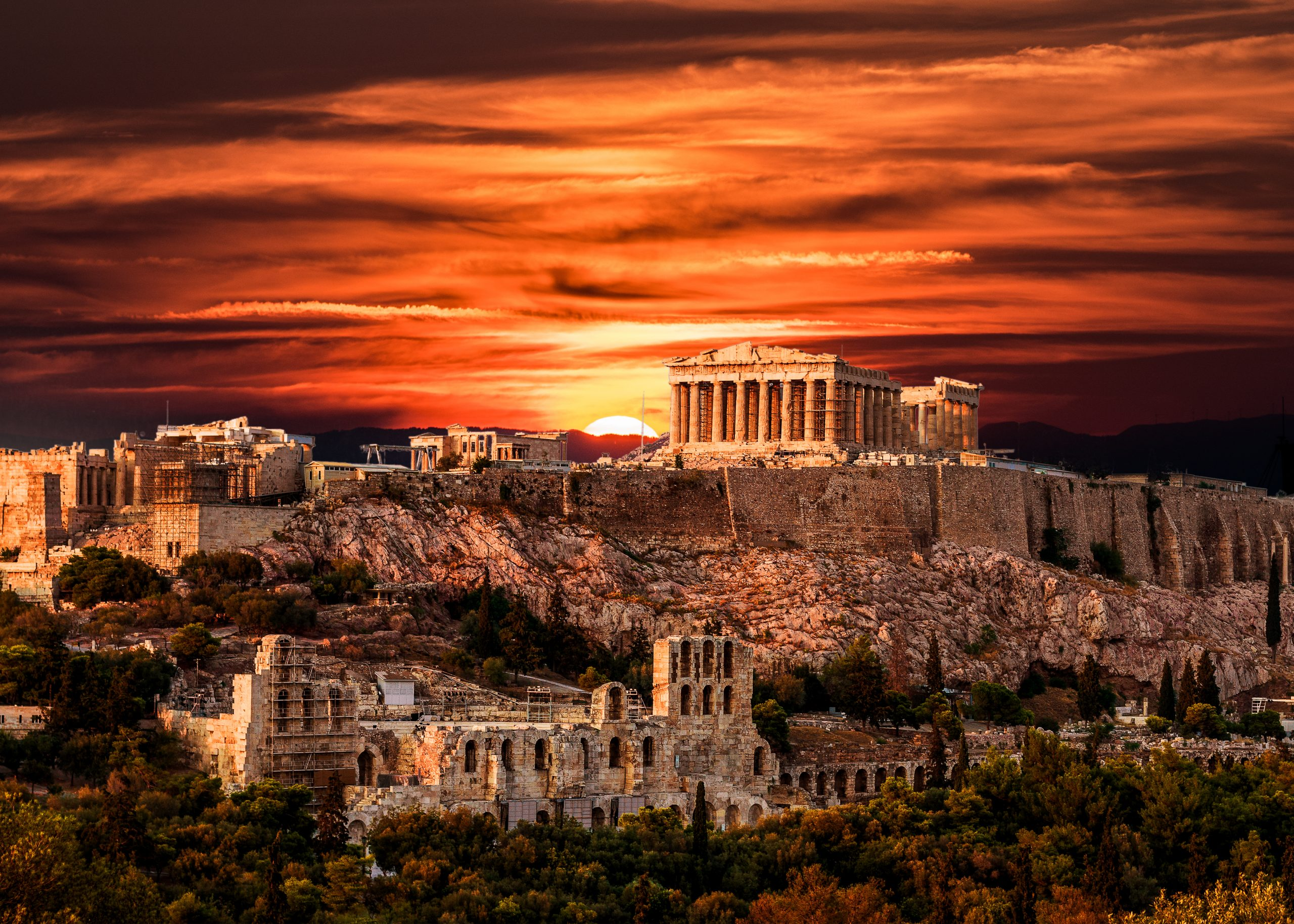 Sunset over the Acropolis